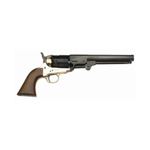 "Traditions 1851 Navy Revolver 44BP 7.38"" Hammer/Blade Walnut Grip Blue"