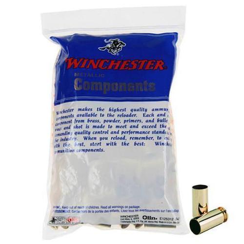 WINCHESTER 44 REMINGTON MAGNUM UNPRIMED PISTOL BRASS CASES 100 COUNT WSC44MU