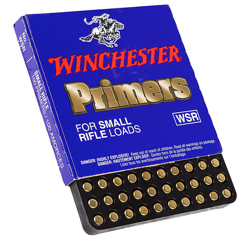 WINCHESTER WSR SMALL RIFLE PRIMERS 100 CT