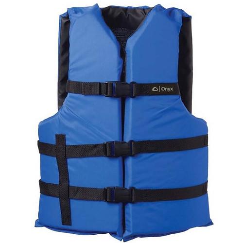 Onyx Adult General Purpose Life Vest Blue