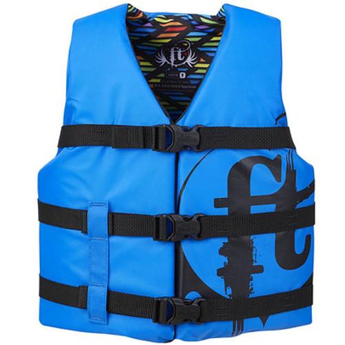 Full Throttle Youth Nylon Life Jacket Blue