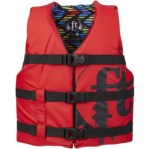 Full Throttle Youth Nylon Life Jacket Red