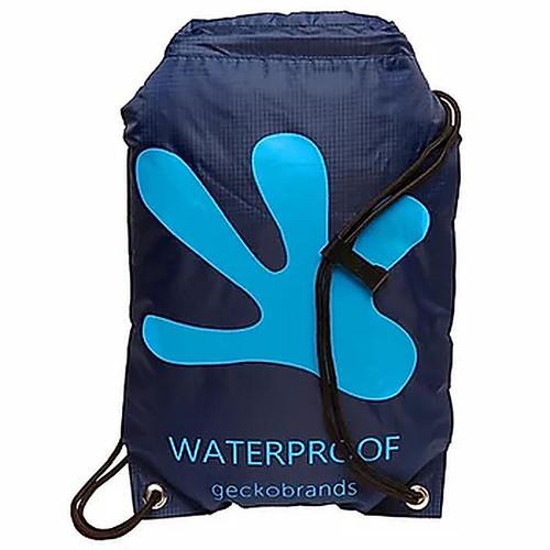 Geckobrands Drawstring Waterproof Backpack Navy