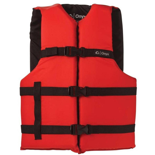 Onyx Adult General Purpose Life Vest Red