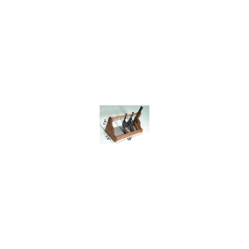Liberty Safe 8 Gun Oak Pistol Rack Shelf