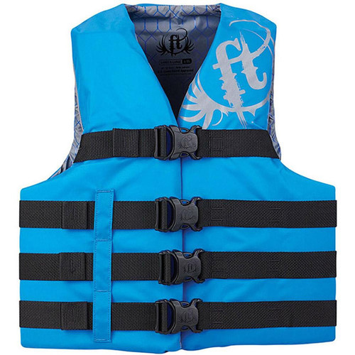 Full Throttle Adult Nylon Life Jacket L/XL Blue