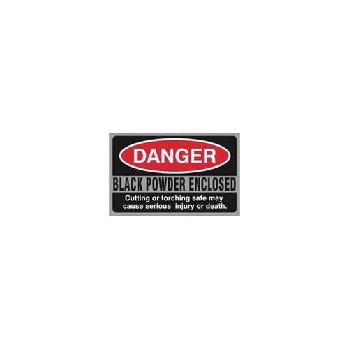 Liberty Safe - Black Powder DANGER Sticker