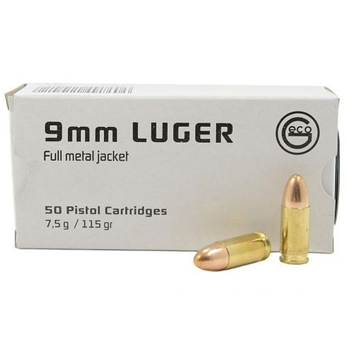 Geco 220440050 9mm 115GR FMJ 50 Rounds