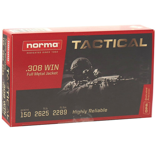 Norma Tactical .308 Win 150GR FMJ 20 Rounds