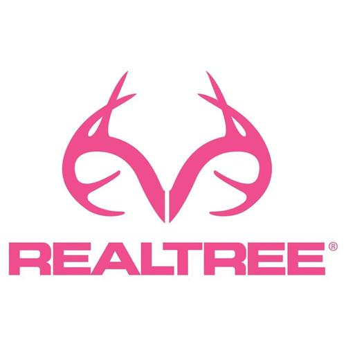 Realtree RT49PINK Antler Decal, 4 x 6 in, Vinyl, Pink, Matte 6 Pack