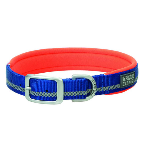 "TERRAIN D.O.G. 07-0860-R12-15 3/4X15"" Neoprene Lined Collar Dark Blue"