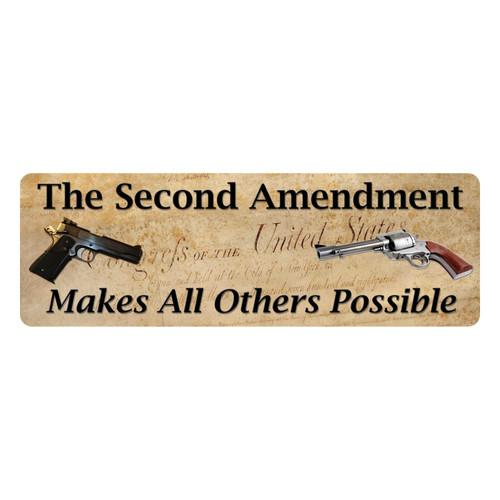 Rivers Edge Products Tin Sign Second Amendment - 1371