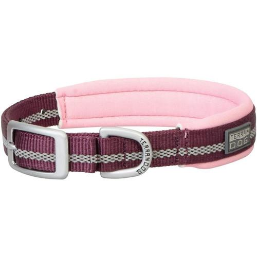 """TERRAIN D.O.G. 07-0861-70-21 1X21"""" Neoprene Lined Collar Plum/Pink"""