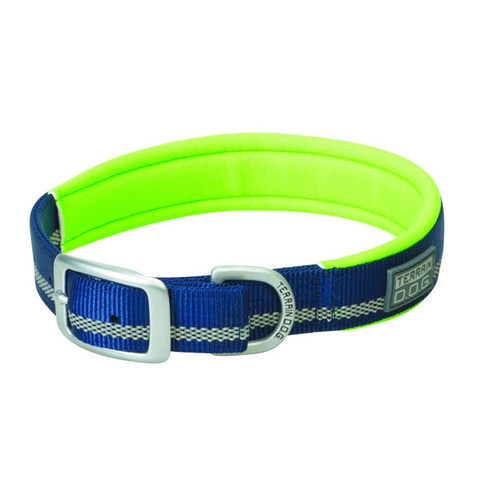"TERRAIN D.O.G. 07-0861-R16-21 1X21"" Neoprene Lined Collar Navy/Lime"