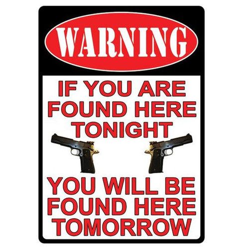 River's Edge Products Large Warning Sign Tin 12 Inches by 17 Inches 1501
