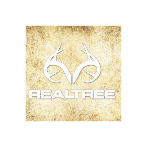 "Realtree RT49WHITE Antler Logo Die Cut Decal 4"" X 6"" White"