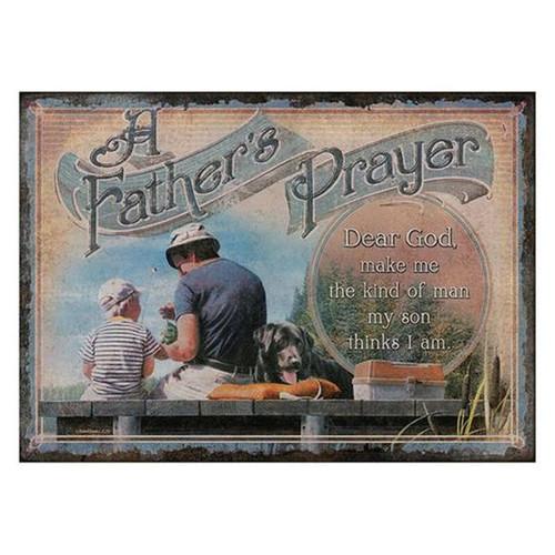 """12"""" x 17"""" Tin Sign A Fathers Prayer"""