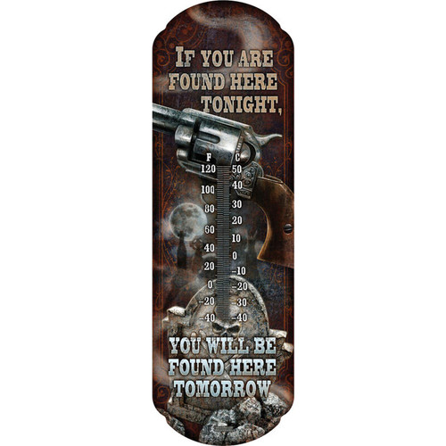 Rivers Edge Products Found Here Tonight Tin Thermometer 1374