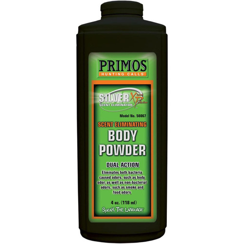 PRIMOS 58067 Scent Eliminating Body Powder 4oz.