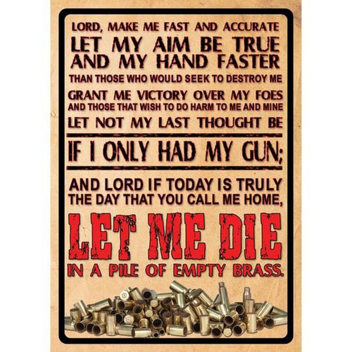 """River's Edge Products """"Lord's Prayer"""" Sign Steel 12 x 17 Inches 1500"""