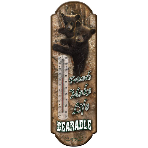 TIN THERMOMETER - BEAR WELCOME