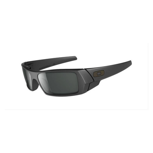 Oakley 03-473 Gas Can Matte Black with Grey Sunglasses