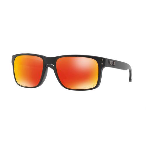 Oakley OO9102-E255 Holbrook Matte Black Prizm Ruby Sunglasses