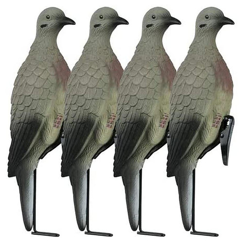 LUCKY DUCK 21-30020-6 CLIP ON DOVES WITH STAKES 4 PACK