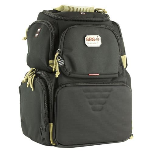 G-Outdoors Handgunner Backpack with 4 Handgun Cradle-Black/Tan