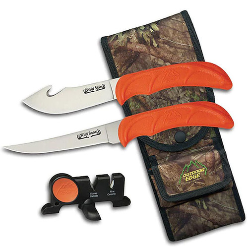 Outdoor Edge Wild-Bone Compact 4-Piece Field Hunting Knives Combo