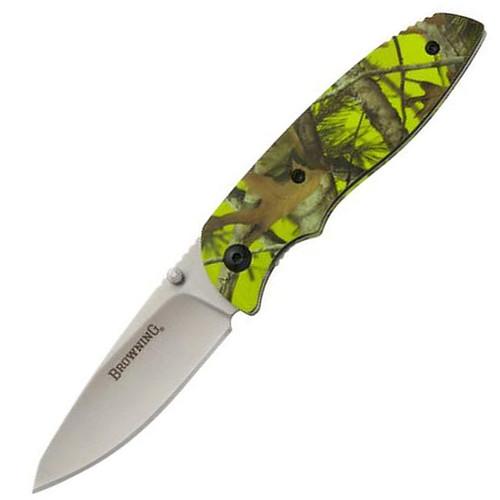 Browning EDC Folding Knife Green Camouflage