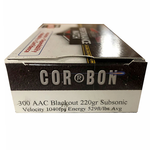 Cor-Bon Self-Defense .300 AAC Blackout 220GR JHP 20 Rounds