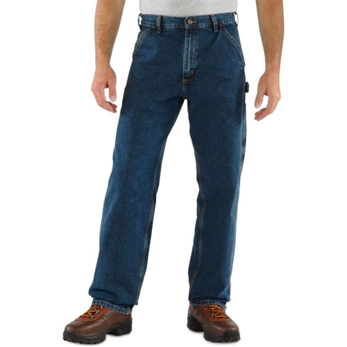 Carhartt Men's Washed Denim Loose Fit Jeans B13