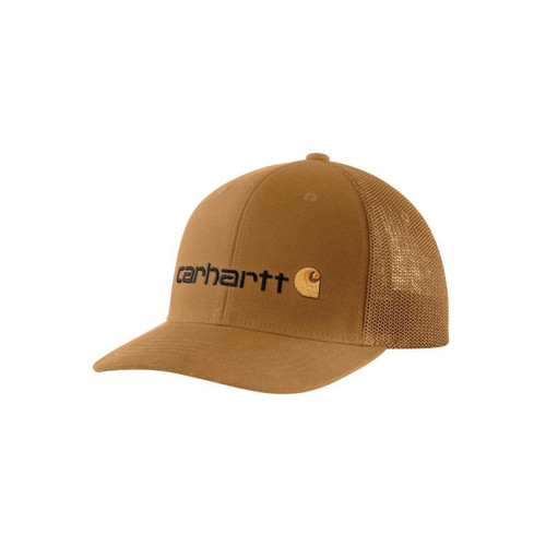 Carhartt Men's Rugged Flex Fitted Canvas Logo Graphic Cap 104192