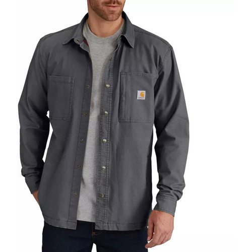 Carhartt Men's Rugged Flex Rigby Shirt Jac/Fleece-Lined 102851