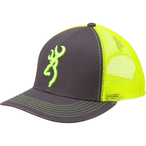 Browning Flashback Hat Charcoal/Neon Green