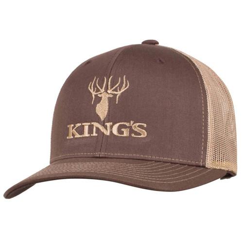 King's Logo Snapback Cap One Size Brown/Khaki