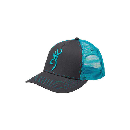 Browning Flashback Hat Charcoal/Neon Blue