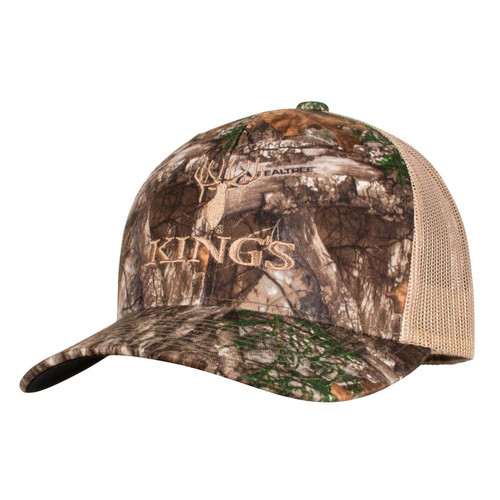 Kings Camo Trucker Hat One Size Realtree Edge