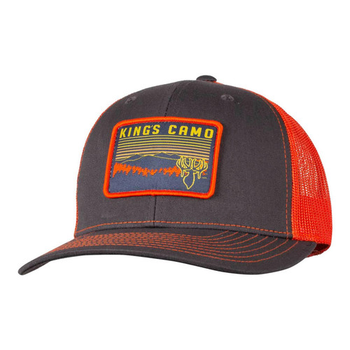 Kings Richardson Patch Hat One Size Charcoal/Orange