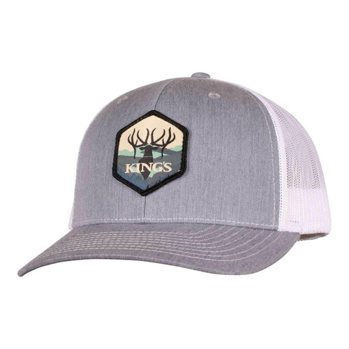 Kings Richardson Patch Hat One Size Heather Grey/White