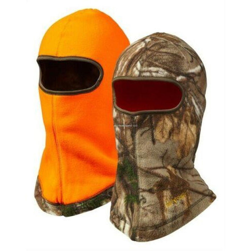 Jacob Ash Reversible Fleece Face Mask One Size Realtree Edge/Blaze Orange