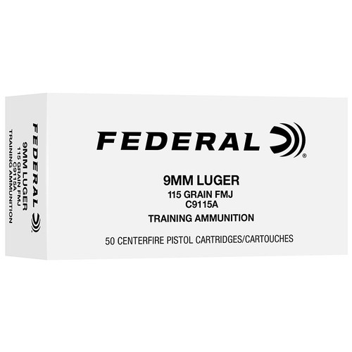 Federal 9mm Luger 115GR FMJ 500 Rounds