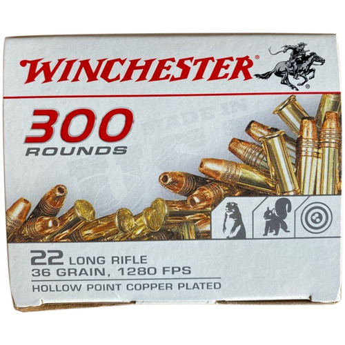 Winchester Ammo 22LR 36GR Copper Plated Hollow Point 300 Rounds