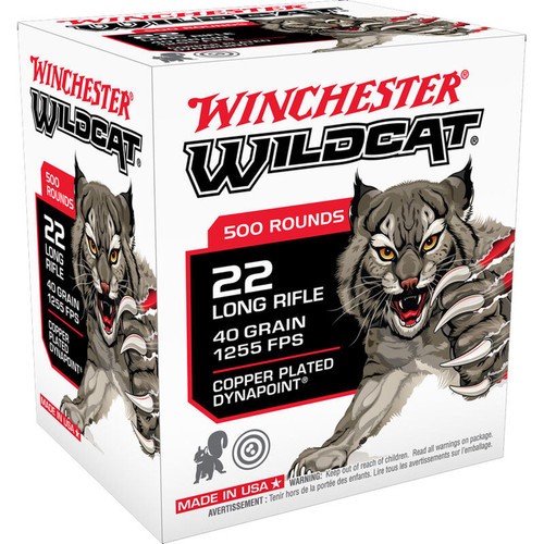 Winchester Wildcat .22LR 40 Grain Copper Plated Dynapoint 500 Rounds