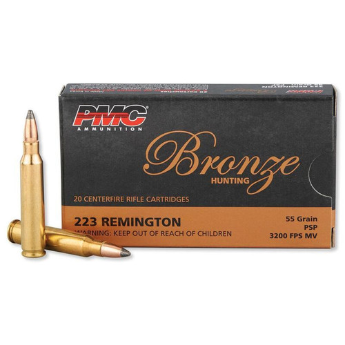 PMC Bronze .223 Remington 55GR Pointed Soft Point 20 Rounds