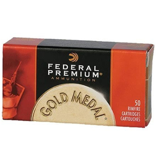 Federal 719 Premium Gold Medal 22LR 40 GR LRN 500 Rounds