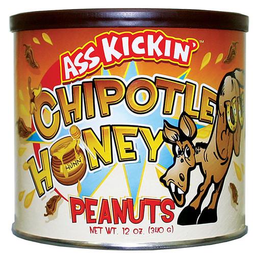 Ass Kickin' Chipotle Honey Peanuts 12 Oz Can