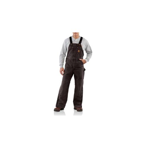 Carhartt Men's Quilt Lined Sandstone Bib Overall R27