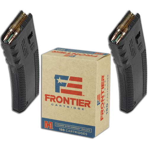 Hornady Frontier FR2015 55GR FMJ 150 Rounds with 2 FREE Magazines